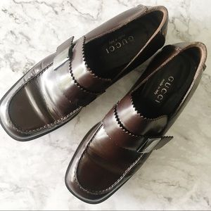 Gucci Brown Buckle Loafers